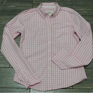 Abercrombie & Fitch Girls Pink Gingham Shirt